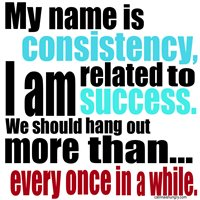 The importance of consistency