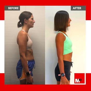Rachael m10 personal training transformation client