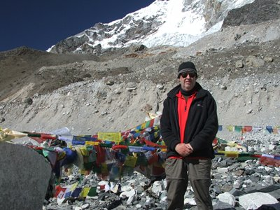 Congratulations to Iain Hook who reached Everest base camp.