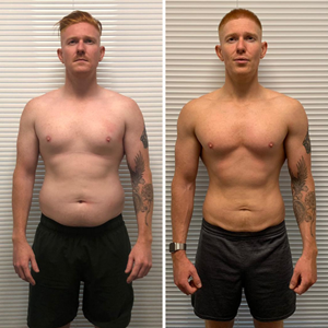 m10 personal training client Rob