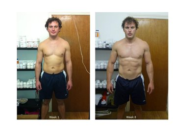 kieron 8 weeks into a 12 week body transformation